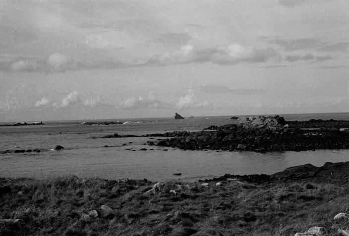 L'épave de l'Amoco Cadiz, au large de Porsall