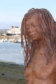 Les statues englouties de Lionel Ducos : Douarnenez - Août 2018