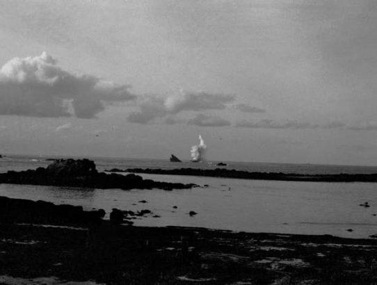 Marée noire à Porsall