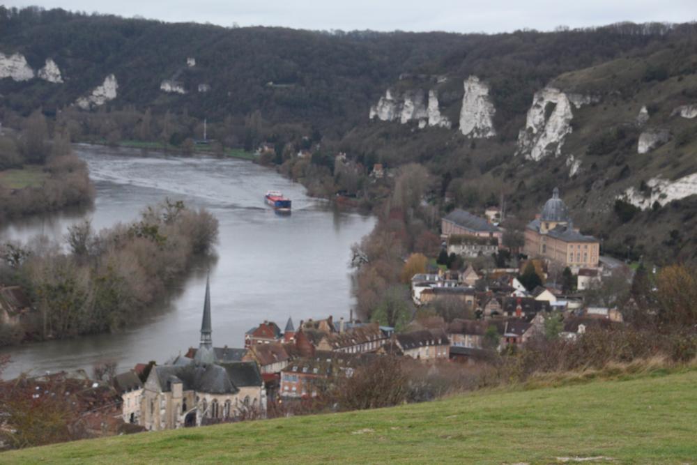 Le Petit-Andely dans les méandres de la Seine